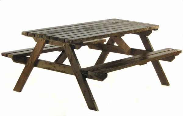 Wooden Picnic Bench Hire - 6 Seat Picnic Bench - BE Event Furniture Hire