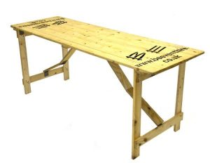 Wooden Trestle Table Hire - 6' x 2' Trestle Table - BE Event Hire