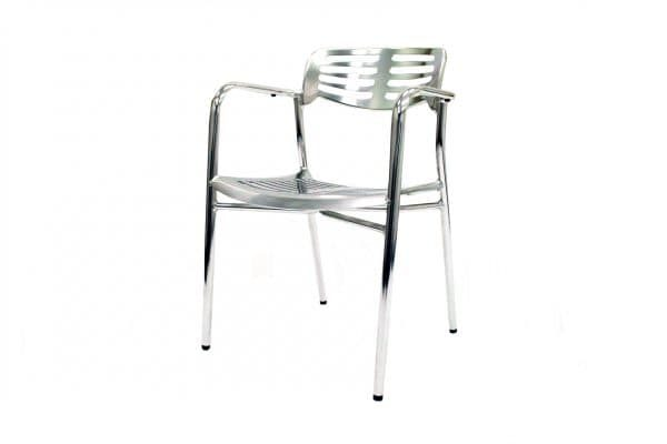 Aluminium Milano Chair Hire - Events, Exhibitions - BE Event Hire