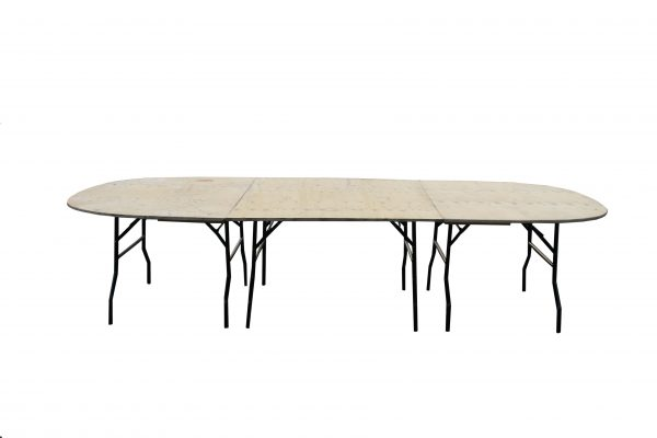 Oval Banquet Tables For Hire - Oval 11′ x 5′ Tables - BE Event Hire