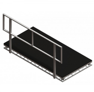Portable prolyte stage hand rail - BE Event Hire