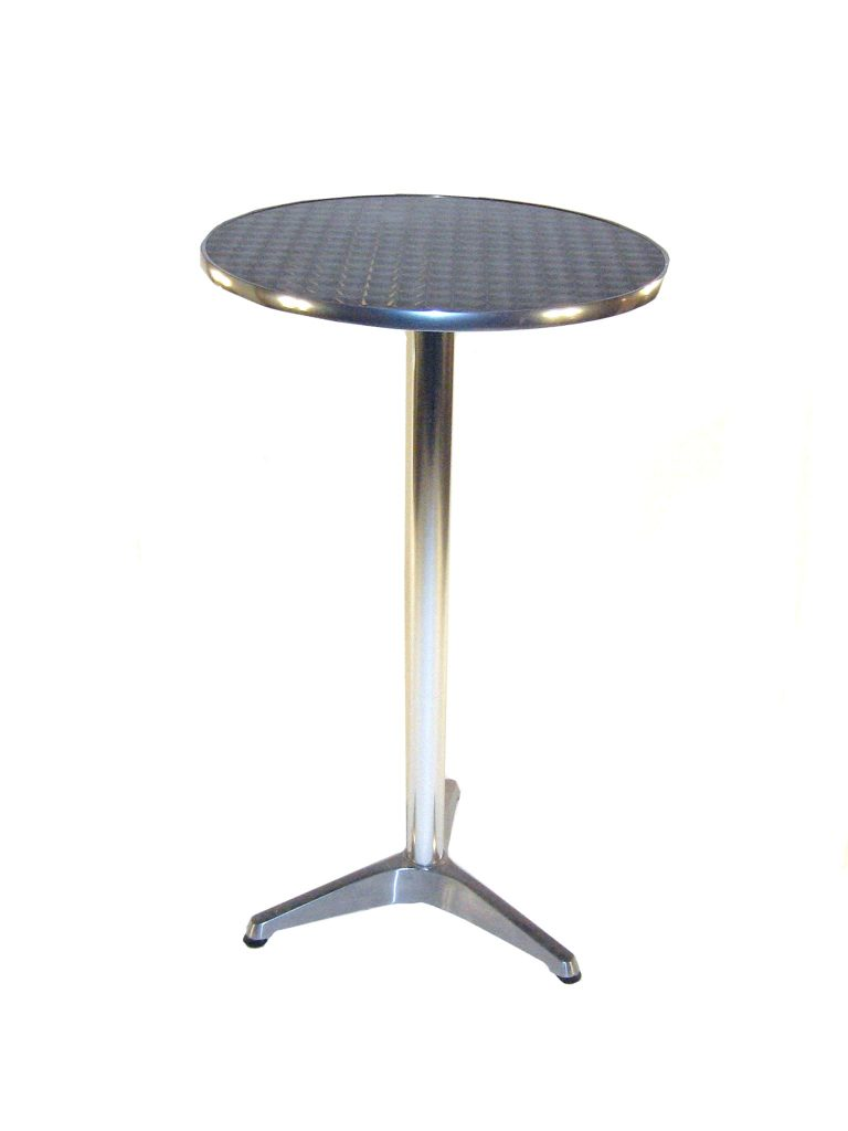 Aluminium High Table Hire - BE Event Furniture Hire