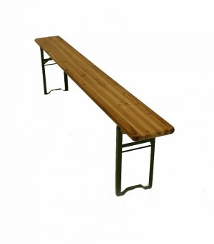 Wooden Bench Hire - Fold Away Outdoor Bench Hire - BE Event Furniture Hire