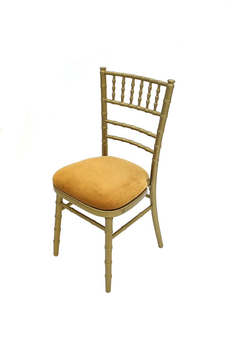 Gold Chiavari Chair Hire - BE Event Furniture Hire