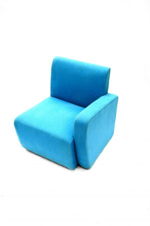 Blue Fabric Reception Chair Hire - Offices, Exhibitions - BE Event Hire