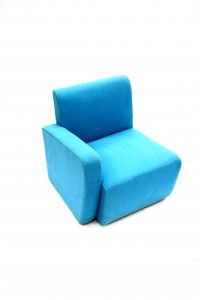 Blue fabric reception exhibition chairs / modular seating - BE Event Hire