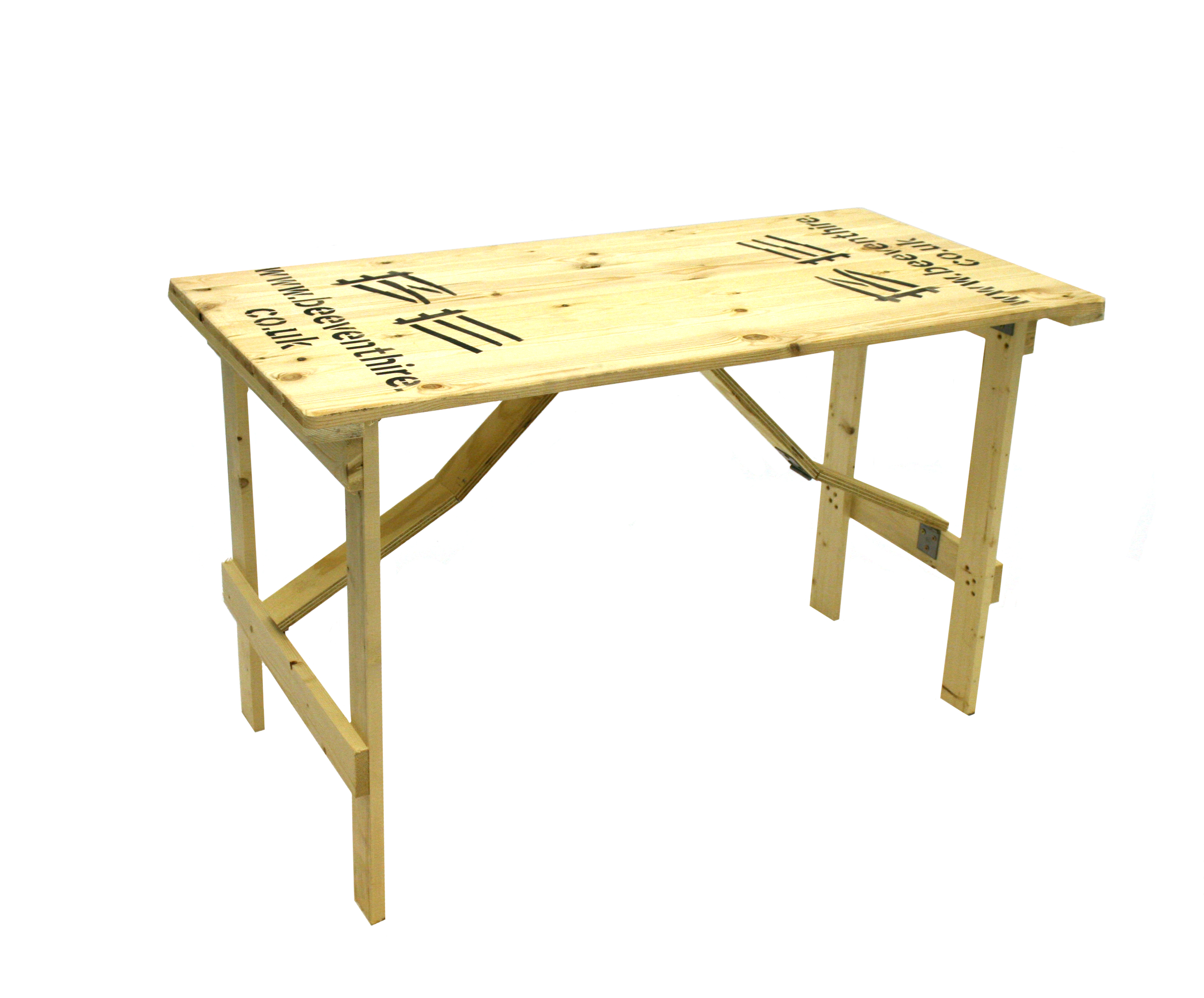 Wooden Trestle Table Hire - 4' x 2' 6' Trestle Tables - BE Event Hire