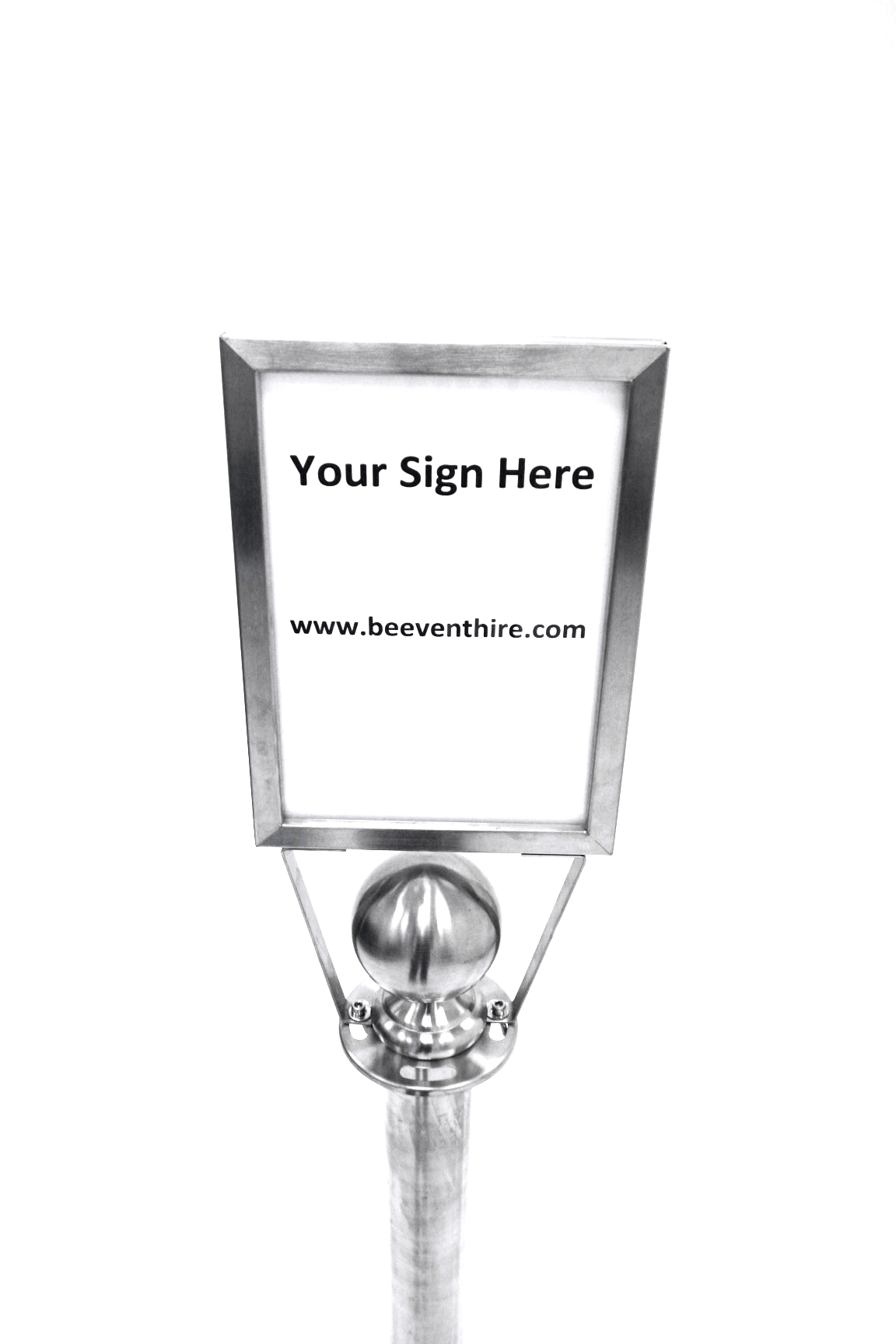 A4 Post Sign Holders for Hire - Fits Barrier Posts - BE Event Hire