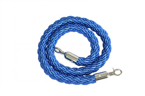 Blue Braided Barrier Rope for Hire - Barrier Post Rope - BE Event Hire
