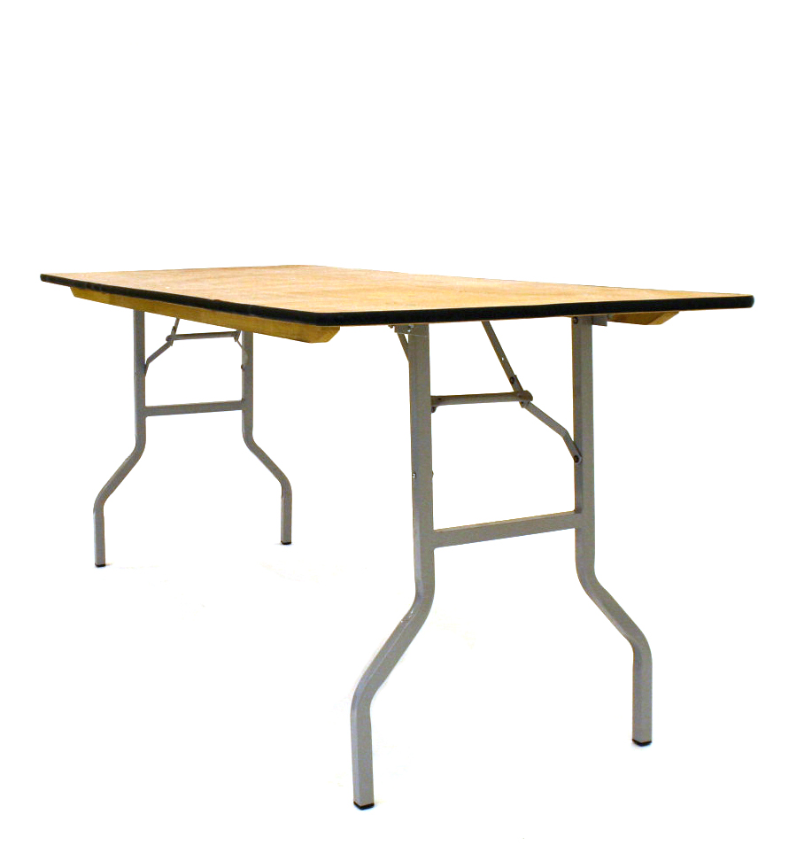 6' x 2'6'' Varnished Table - BE Event Hire