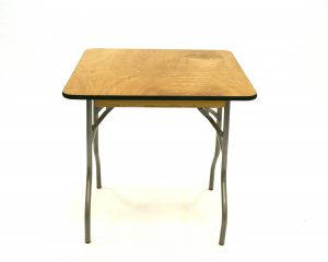2'6'' x 2'6'' Varnished Table - BE Event Hire