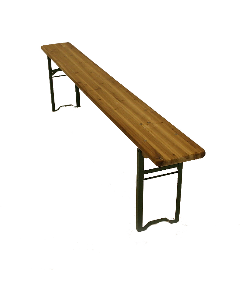 Wooden Bench Hire - Fold Away Outdoor Bench Hire - BE Event Hire