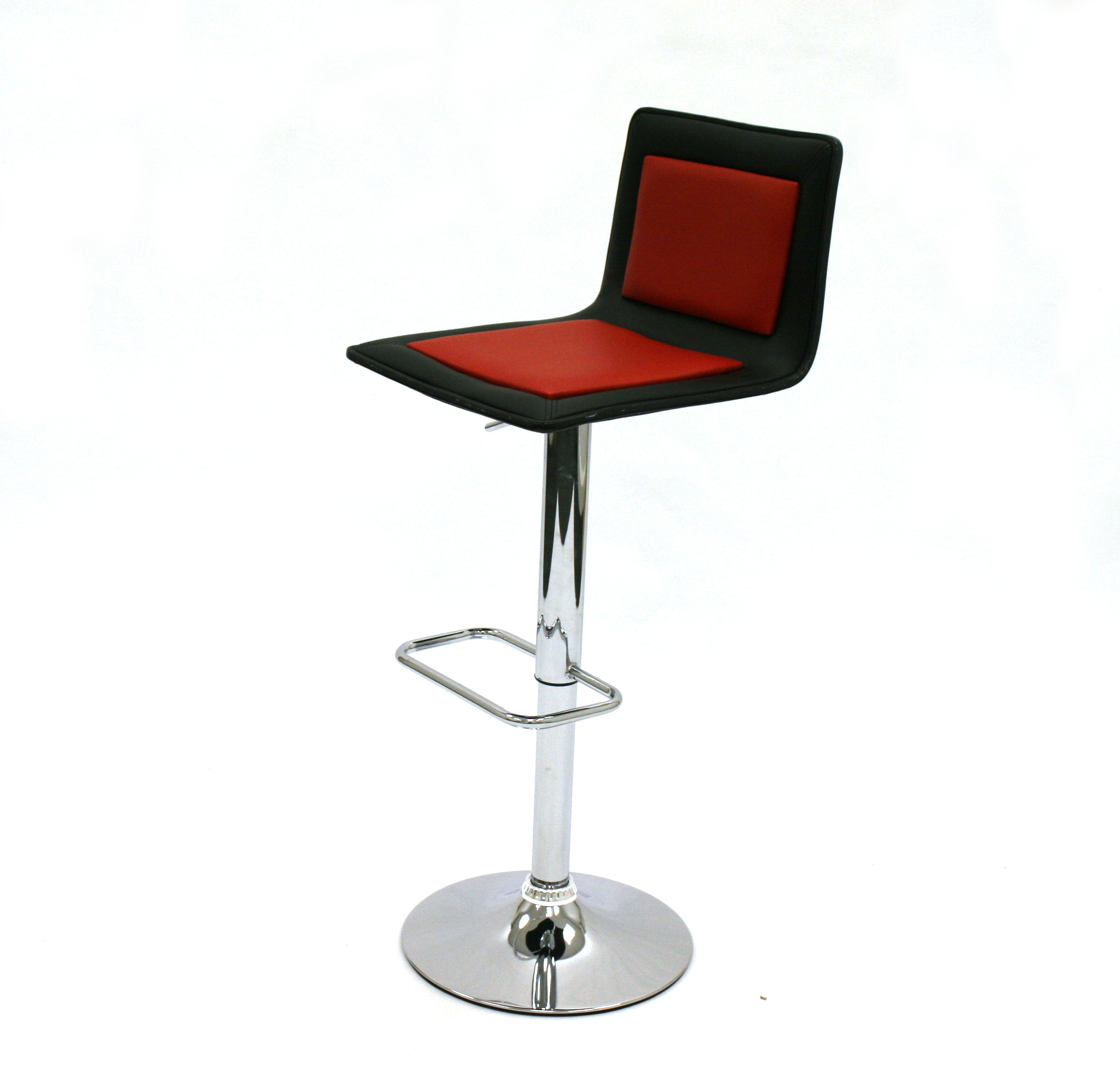 Black & Red Leather High Stools for Hire - Exhibitions - BE Event Hire