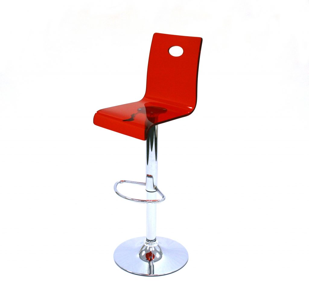 red acrylic bar stool hire