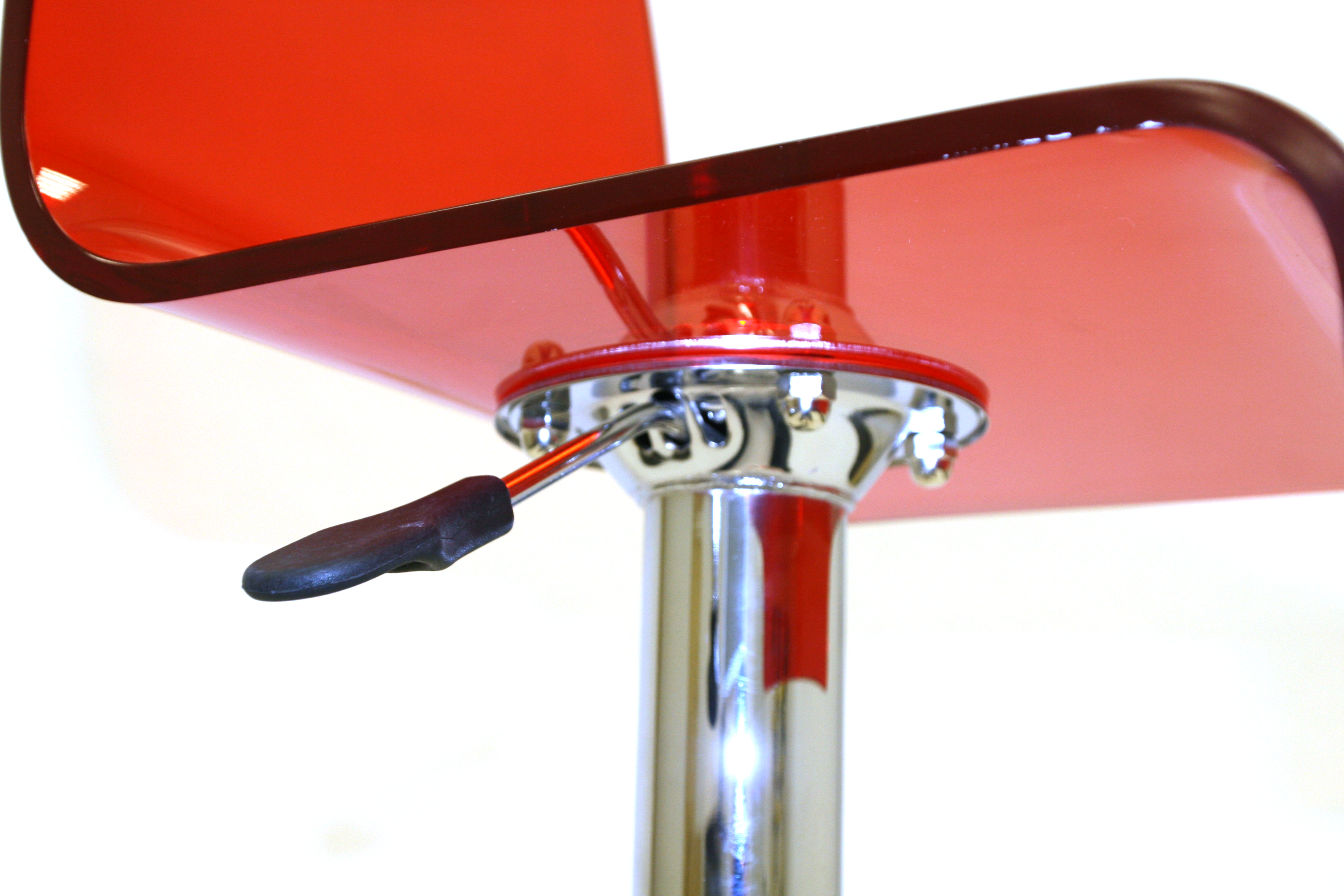 Red Acrylic Bar Stool Hire Events Cafes Exhibition