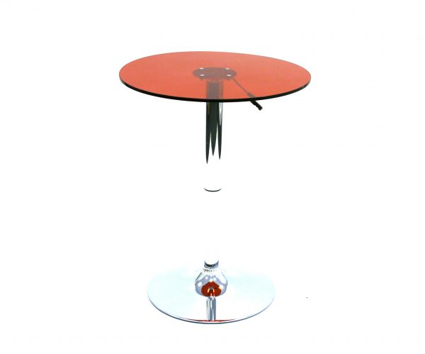 Red Acrylic Swivel Table Hire - Bistros, Events, Trade Stands - BE Event Hire