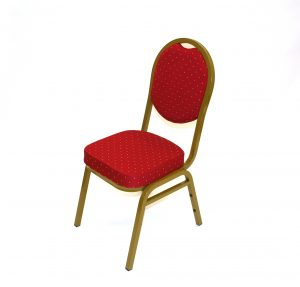 Red Banqueting Conference Chairs  - BE Event Hire