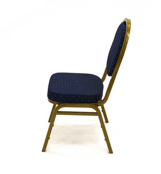 Blue & Gold Banqueting Chairs - BE Event Hire