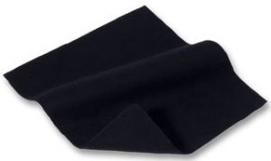 Black fabric drapes to be used under our selection of stage blocks and steps - BE Event Hire