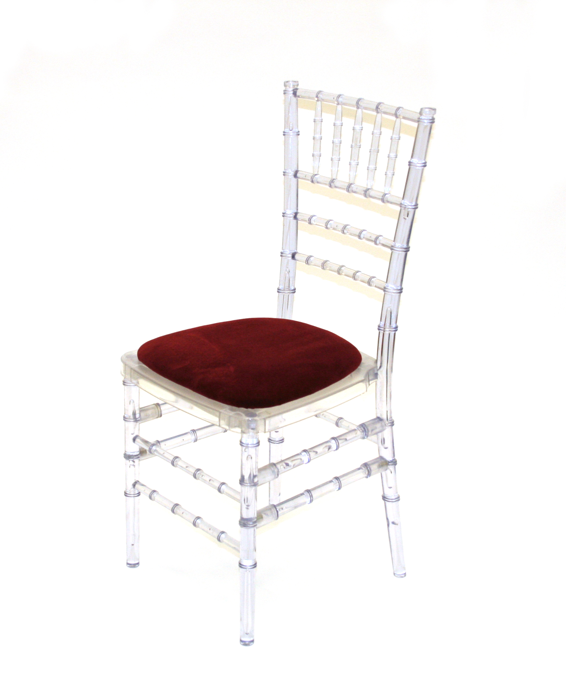 Crystal resin chiavari chairs