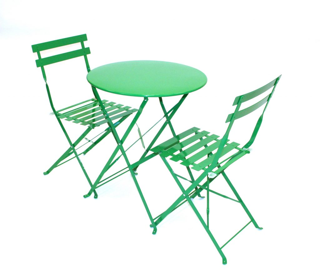 Green Metal Folding Bistro Table Amp Chair Sets For Hire