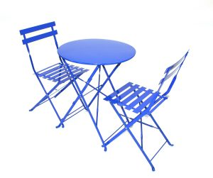 Blue Metal Bistro Balcony Patio Sets - BE Event Hire