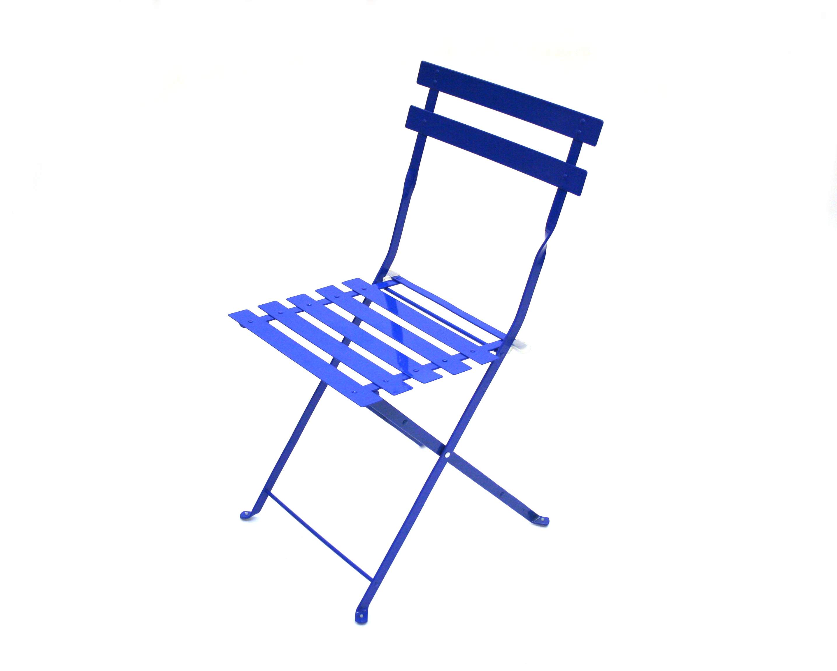 Blue Metal Bistro Chairs