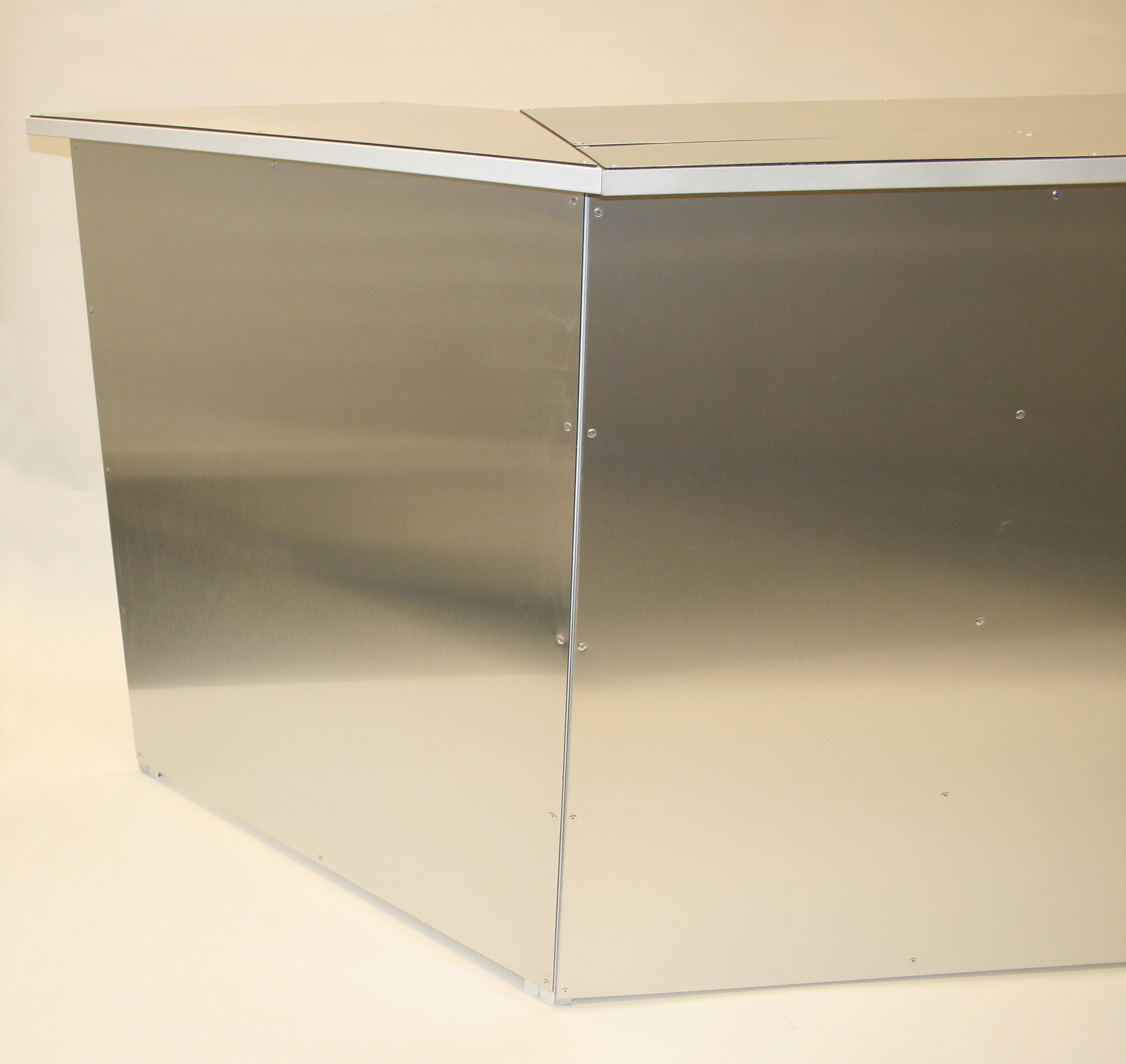 Stainless Steel Bar Front - LED lights available - BE Event Hire