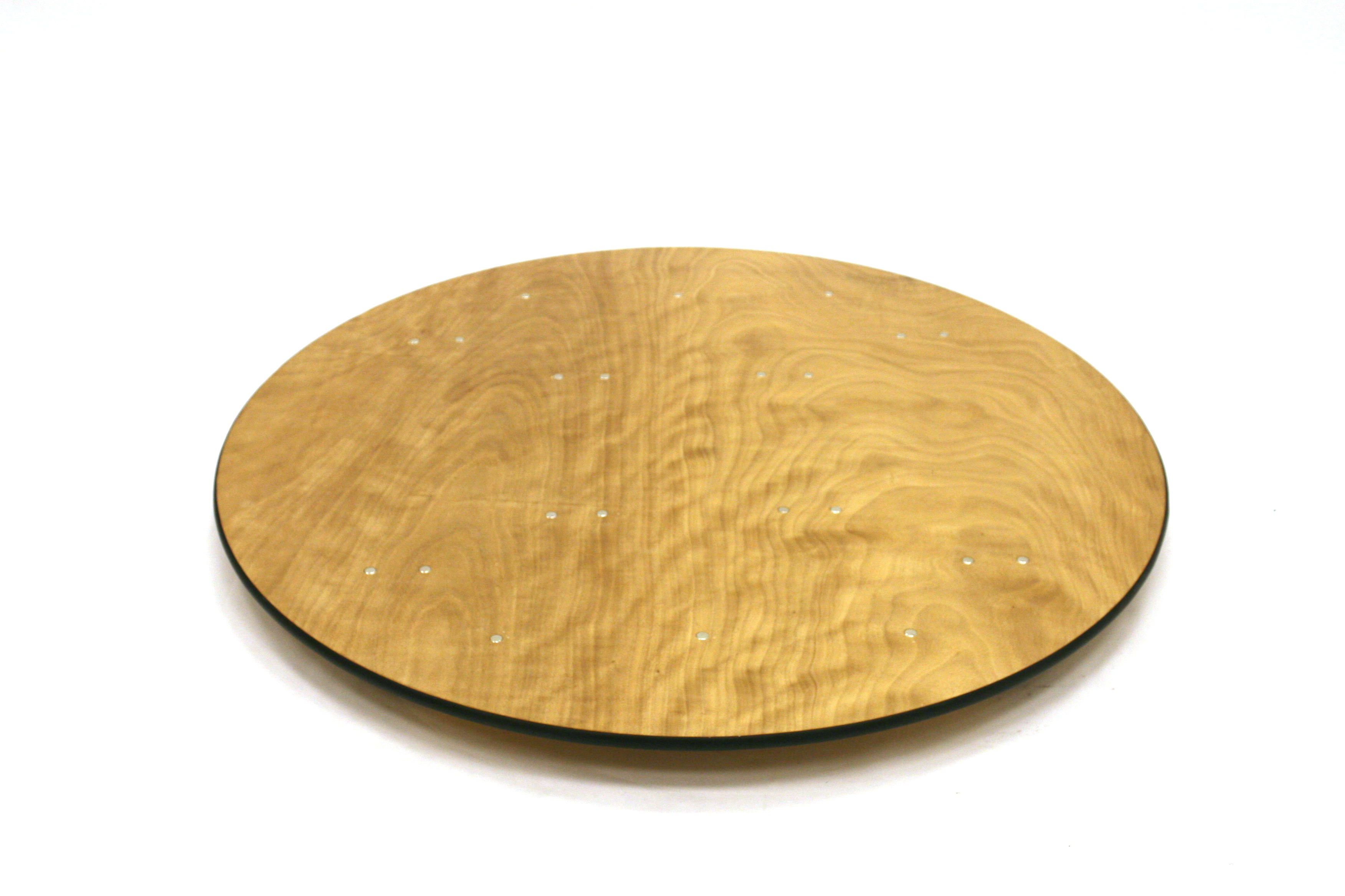 5' 6'' Diameter Varnished Table - BE Event Hire