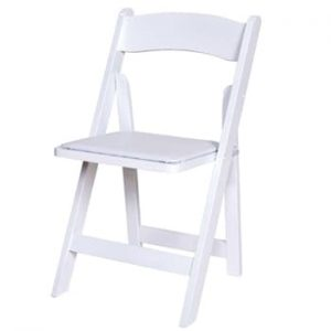 White Wooden Folding Chair Hire - Indoor & Outdoor - BE Event Hire