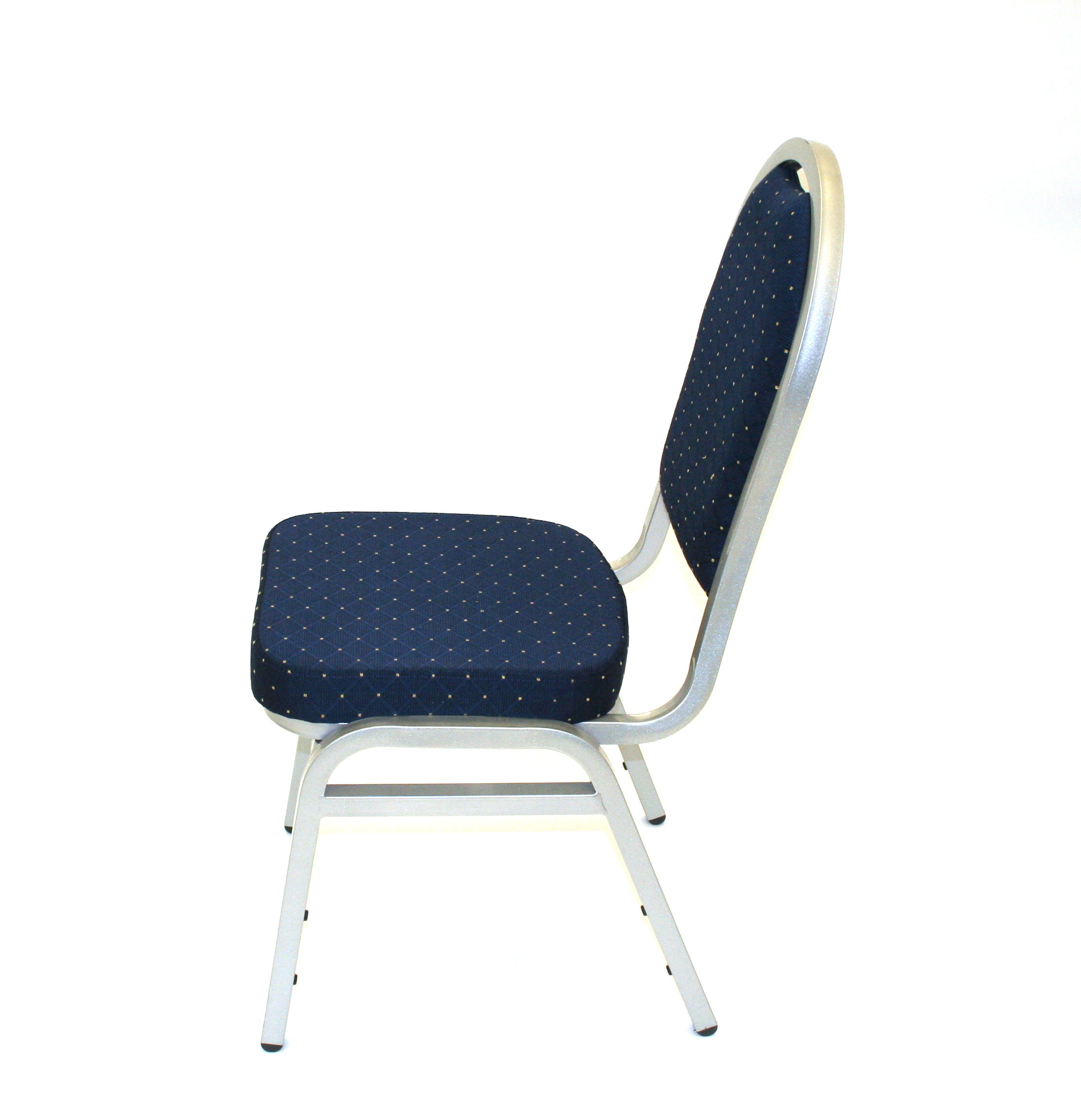 Blue & silver banquet conference chair - BE Event Hire