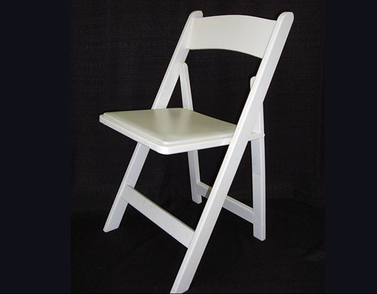 White folding chairs wooden or resin - BE Event Hire