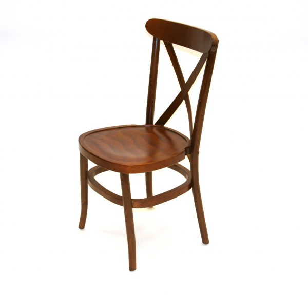 Wooden Crossback Chairs for Hire - Weddings, Events - BE Event Hire