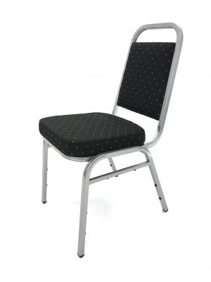 Budget Black & Silver Banqueting Chair Hire - BE Event Furniture Hire