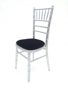 silver chiavari chair wedding- BE Event Hire