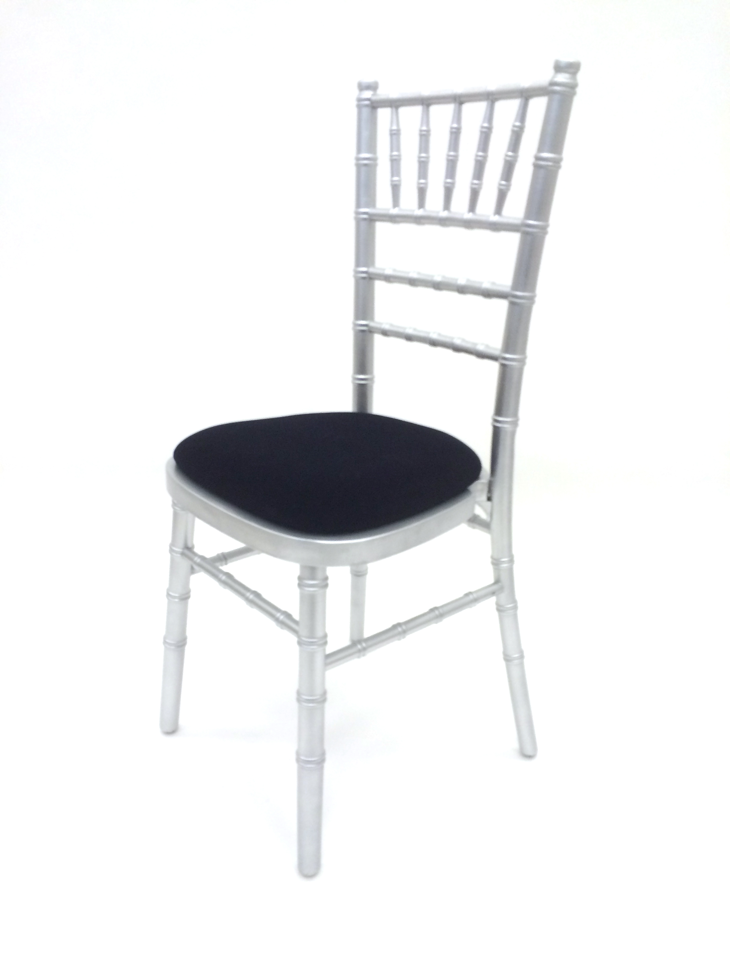 Silver Chiavari Chair Hire - Choice of Seat Pad Colours - BE Event Hire