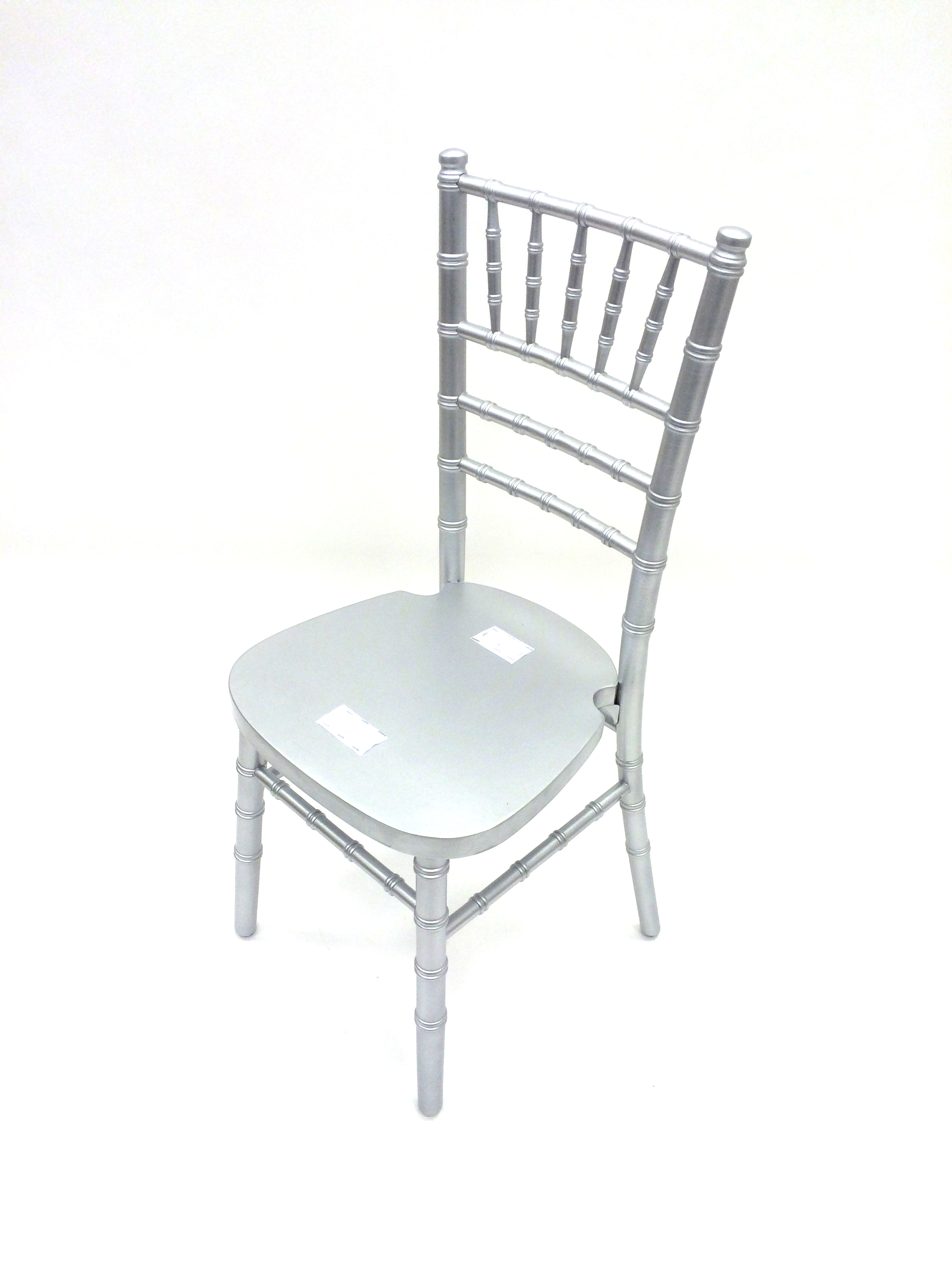 Silver chiavari chair wedding party without seat pad - BE Event Hire