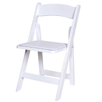 White resin folding chair - BE Event Hire
