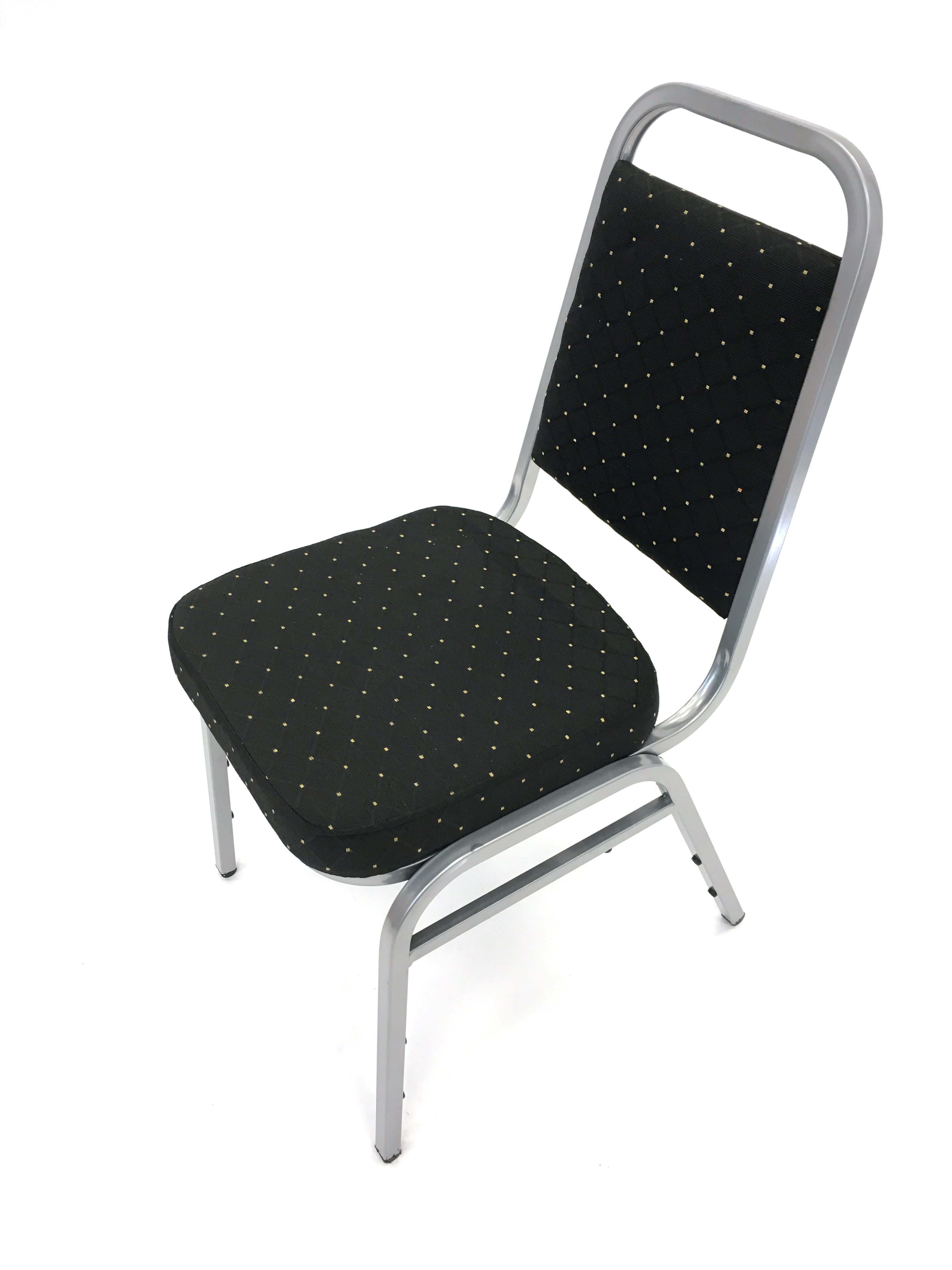Black silver banquet conference chair - BE Event Hire