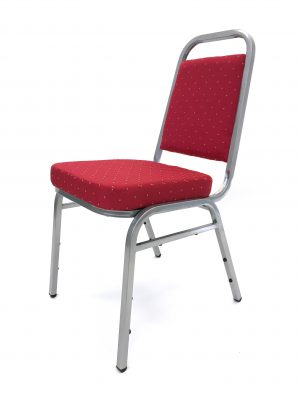 red silver banquet conference chair - BE Event Hire
