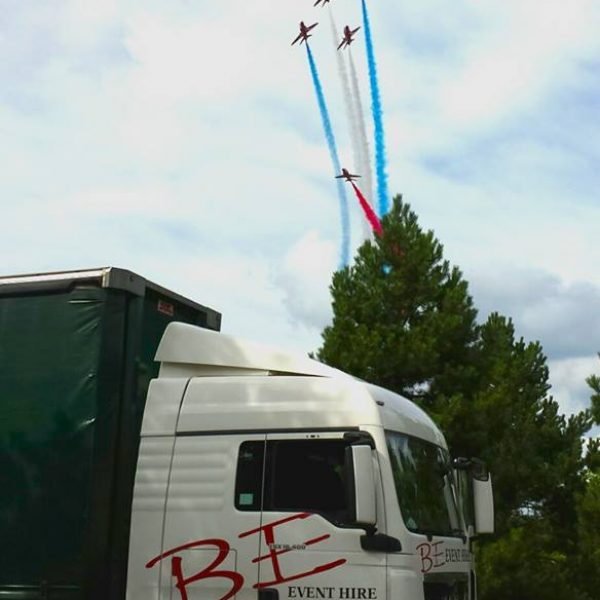 BE Event Hire and the Red Arrows