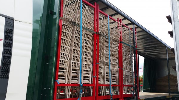 Limewash Chiavari Chairs loaded ready for delivery