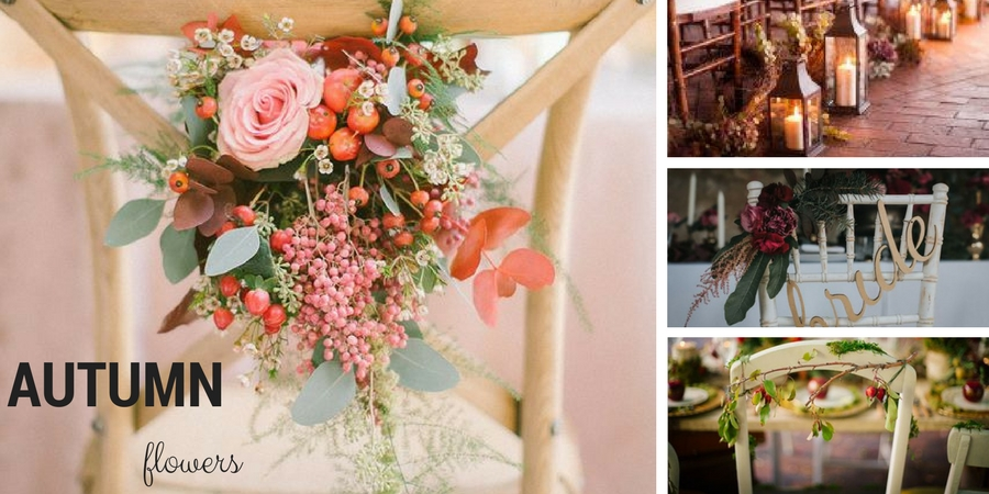 Aurumn wedding chair decoration ideas