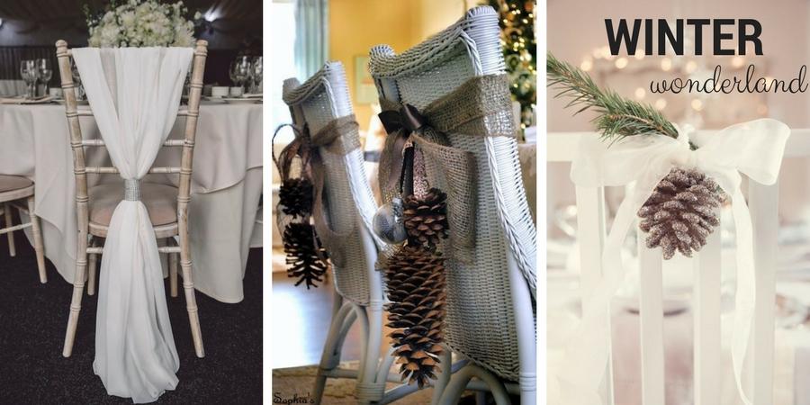 Winter wedding chair decoration ideas