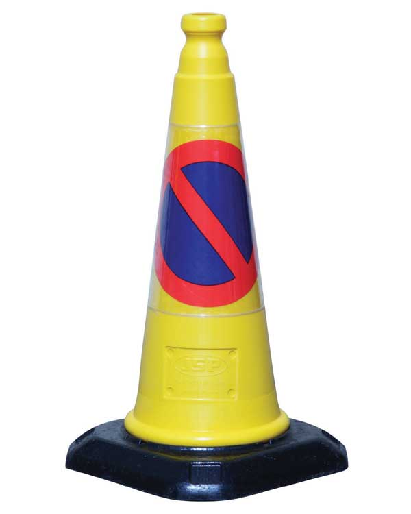 Bright Yellow N0 Parking Traffic Cones for Hire - BE Event Hire