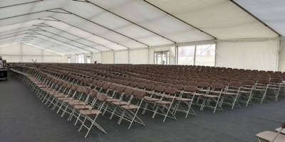 Samsonite Folding Chairs used for Graduation Day Furniture at Royal Hospital School in Ipswich