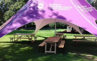 Graduation day Furniture Hire at Bishop Grosseteste University in Lincoln