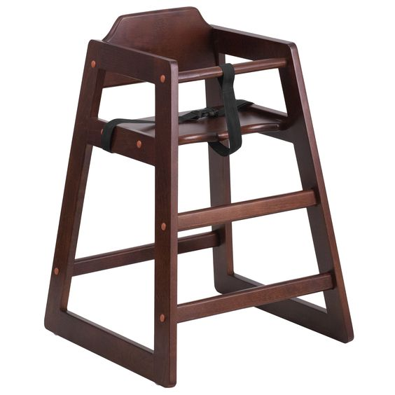 childrens wooden high chair for hire events weddings