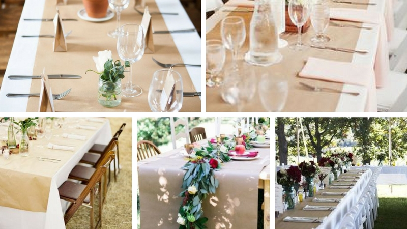 Wedding decorating ideas creating the perfect picnic table be picnic table wedding decoration butchers paper junglespirit Choice Image