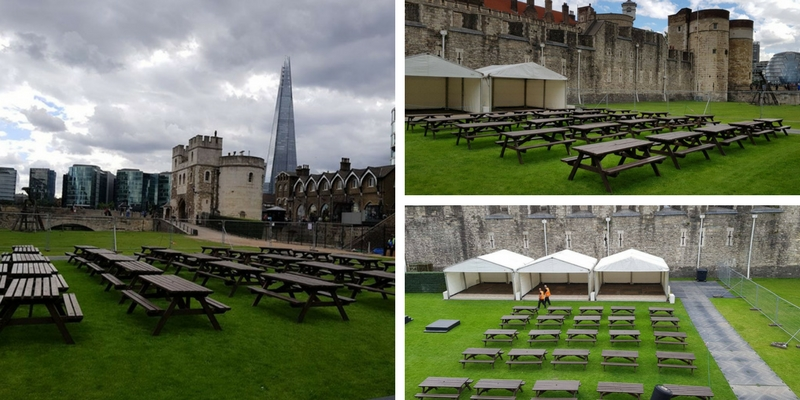 Picnic Bench Hire for the Tower of  London